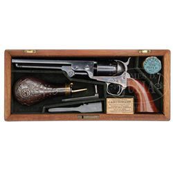 SCARCE CASED COLT MODEL 1851 NAVY PERCUSSION REVOLVER.