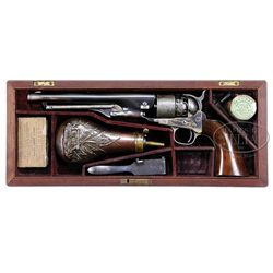 RARE SPECIAL PRESENTATION QUALITY CASED COLT MODEL 1860 ARMY PERCUSSION REVOLVER.