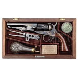 RARE CASED COLT MODEL 1862 POLICE PERCUSSION REVOLVER THAT WAS PART OF THE COLT ARCHIVE COLLECTION.