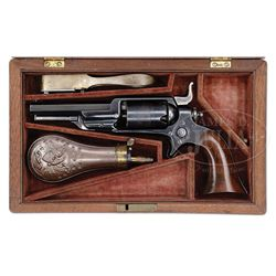 CASED COLT 1855 MODEL 2 ROOT PERCUSSION REVOLVER.