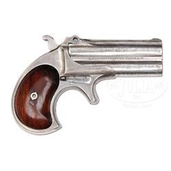EXTREMELY RARE REMINGTON TYPE 1, EARLY PRODUCTION, (MODEL 1) DOUBLE DERRINGER.