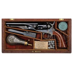 SCARCE CASED COLT MODEL 1862 POLICE PERCUSSION REVOLVER.