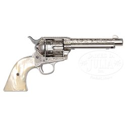 RARE ENGRAVED COLT SINGLE ACTION ARMY REVOLVER.