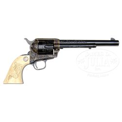 *SPECTACULAR ENGRAVED FIRST GENERATION COLT SINGLE ACTION ARMY REVOLVER.