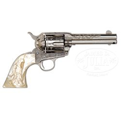 *SCARCE ENGRAVED COLT SINGLE ACTION ARMY REVOLVER.