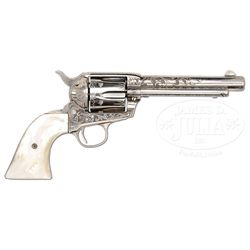 *FINE FACTORY ENGRAVED COLT SINGLE ACTION ARMY REVOLVER.