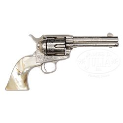 SCARCE FACTORY ENGRAVED COLT SINGLE ACTION ARMY REVOLVER WITH TEXAS HISTORY.