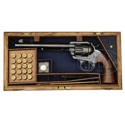 RARE COLT BISLEY FLAT TOP TARGET SINGLE ACTION REVOLVER.
