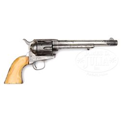 EARLY FRONTIER SIX SHOOTER SINGLE ACTION ARMY REVOLVER.