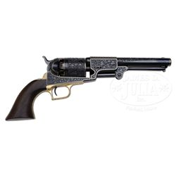MASTERFUL ARNOLD GRIEBEL ENGRAVED COLT DRAGOON REVOLVER.