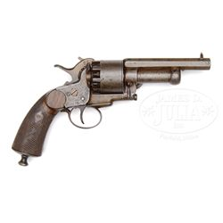 EXTREMELY RARE CONFEDERATE BABY LEMAT PERCUSSION REVOLVER, EARLIEST SN KNOWN.