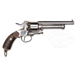 SCARCE VARIANT LONDON MADE LEMAT GRAPESHOT PERCUSSION REVOLVER.
