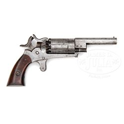 RARE WALCH IRON FRAME 10-SHOT PERCUSSION REVOLVER.