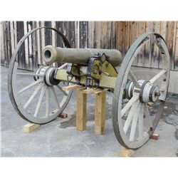 BRONZE 6 POUNDER MODEL 1841 CANNON DESCENDED IN THE AMES FAMILY.
