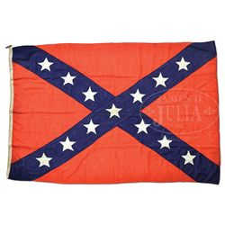 CAPTURED CONFEDERATE NAVAL JACK BY CIVIL WAR HERO COMMANDER WILLIAM CUSHING.