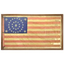 PRESENTATION CIVIL WAR 34 STAR FLAG, 31ST PENNSYLVANIA.