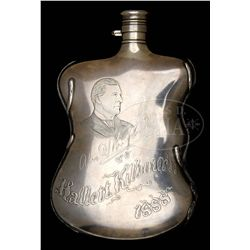 PRESENTATION GORHAM STERLING FLASK COMMEMORATING AN IMPORTANT SILVER MINE.