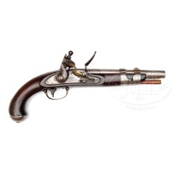 NORTH 1816 FLINTLOCK MARTIAL PISTOL.