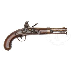 JOHNSON 1836 FLINTLOCK PISTOL.