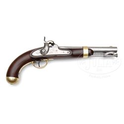 FINE MODEL 1842 ASTON SINGLE SHOT MARTIAL PISTOL.
