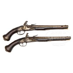 PAIR OF EARLY ITALIAN FLINTLOCK PISTOLS.
