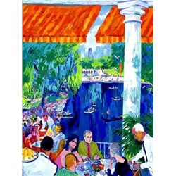 The Boat House Central Park LeRoy Neiman LE Art Print