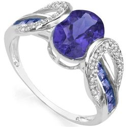 1.60 ct Tanzanite & Diamond Gold ring