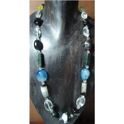 Natural Stones & Quartz Necklace