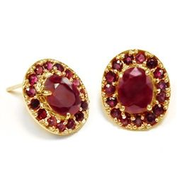 4.5 ct Ruby & solid Gold Ear rings