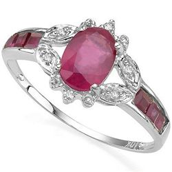 1.59 ct African Ruby & Solid Gold Ring