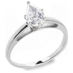 1.01 ctw E/VS2 Pear diamond solitire ring