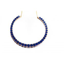 Burma Sapphire 58 ct Necklace (No Treatment)