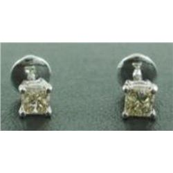 Princess Diamond 0.60 ct & Solid Gold Ear studs