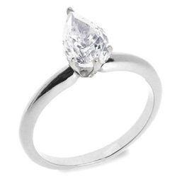 1.00 ctw G/VS2 Pear diamond solitire ring