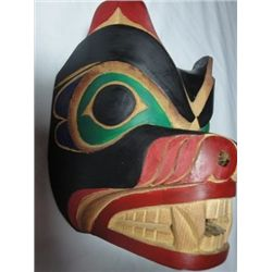 West Coast Native Bear Mask (Yew Wood)