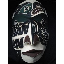 West Coast Native Man Transformation into Eagle Mask