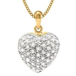 Diamond & Solid gold Heart pendant