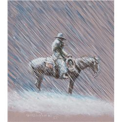 Cowboy in the Rain by Wieghorst, Olaf
