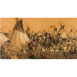 Comanche War Party Returning by Lovell, Tom