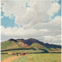 Towards the Pueblo by Hennings, E. Martin