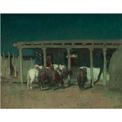 Waiting, Taos 1926 by Berninghaus, Oscar