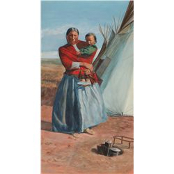 Mother and Child by Johnson, Frank Tenney