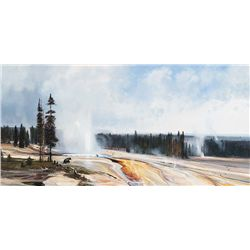 Black Bears in Geyser Basin by Coleman, Michael