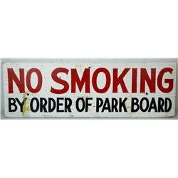 """No Smoking"" Painted Sign"