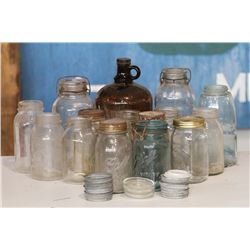 Collection of Mason Jars and Lids