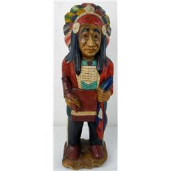 Indian Chief Carved Statue