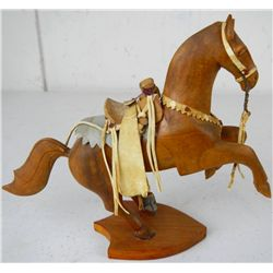 Old Wooden Carved Horse