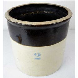 Antique 2 Gallon Stoneware Crock