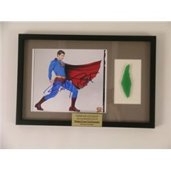 Superman Returns Kryptonite Prop & Superman Autograph