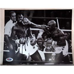 SIGNED-By Both Boxers! Shavers & Holmes PSA/DNA